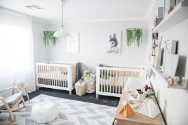 baby room ideas for twins. Baby Bedroom Twin Crib Nursery Room Boho Idea Plants Mobiles Animal Picture Decoration Ceiling Wood Rocking Ideas For Twins L