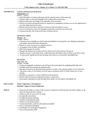 Hostess Resume Examples Hostess Resume Samples Velvet Jobs 23