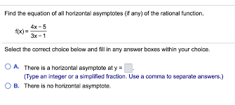 find the equation of all horizontal asymptotes if