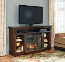 gaston 72 tv stand with fireplace by ashley at crowley furniture in kansas city
