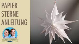 Anleitung So Bastelt Ihr Weihnachtliche Papiersterne Aus