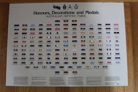 Chart Of Honours Decorations And Medals Australian