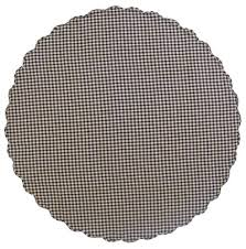 navy check round tablecloth 70 inch