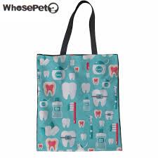 whosepet women top handle bag funny dentist equipment handbag ager s large tote bag kids book shoulder bag beach mochila in shoulder bags from