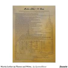 Martin Luther 95 Theses In English Poster Zazzlecom Quotes