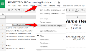 google sheets balance sheet how to protect cells in google sheets