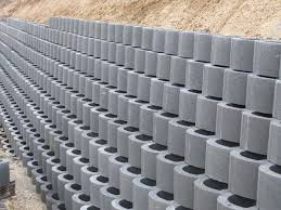 Small Picture Hollow concrete block for retaining walls surface mounted