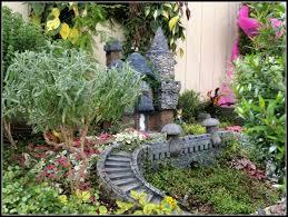 fairy garden castle. Fairy Garden With Bridge Castle