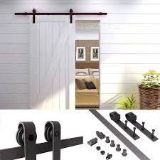 interior barn door track. TMS 5FT Country Antique Interior Sliding Barn Door Track Hardware Kit Dark Coffee Steel A