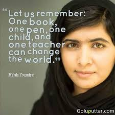 Famous Inspirational Quotes Awesome Famous Inspirational Quote By Malala Yousafzai Photos And Ideas