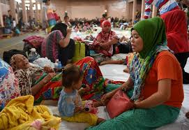 Image result for Filipina muslim evacuees