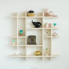 House Shape Wooden Display Shelf Unit Unpainted -Thimbles- Doll's House  Miniatures - Ornaments