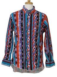 90s Pattern Shirts Fascinating 48's Vintage Western Shirt 48s Wrangler Mens Coral Red Violet