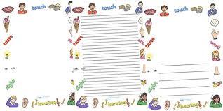 Preschool Page Borders 5 Senses Page Border Viametris Info