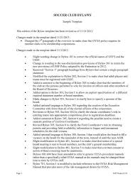 Club Bylaws Template