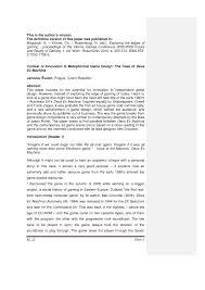 Deus Ex Design Document Pdf The Context Of Innovation In Metaphorical Game Design