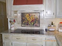 Tile Murals For Kitchen Ceramic Tile Designs Pots Vases And Urn Tiles Bm Sunflower