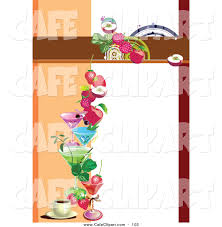 blank menu template free download vector clip art of a blank menu template with fruity drinks and