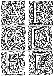 Enluminure Alphabet A Colorier Duilawyerlosangeles