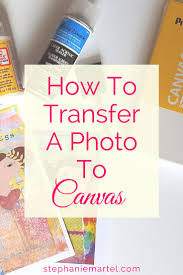Come on over and check out how to transfer a photo to canvas. Click through