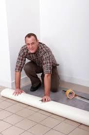 installing the vinyl floor