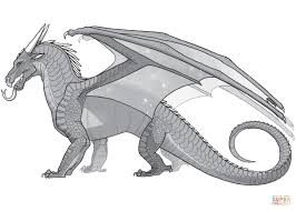 wings of fire nightwing dragon coloring page free printable pages