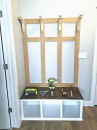 white entryway furniture. Diy Entryway Bench Coat Rack Inspirational August Grove Irwin Wood Veneer Hall Tree With Storage White Furniture