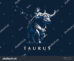 Stock Vektory Na Téma Sign Zodiac Taurus Woman Riding Bull Bez