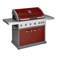 outdoor bbq grills. Jamie Oliver Pro 6 Chili Red Closed Gas Grill Outdoor Bbq Grills