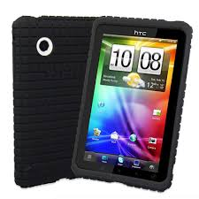 htc tablet. snugg htc flyer silicone non-slip case in black htc tablet