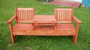 outdoor storage bench with back