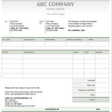 service work orders template useful ms excel and word templates for business owners