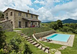 swimming pool farmhouse lighting fixtures. Exterior Of A Rustic Umbrian Country House With Swimming Pool And Traditional Stonework | NONAGON. Farmhouse Lighting Fixtures D