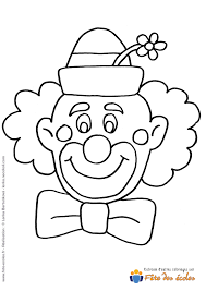 Coloriage T Te De Clown