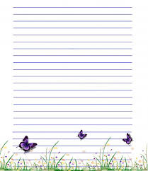 free printable lined writing paper with