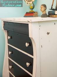 two tone furniture painting. Ivory Two Toned Dresser Tone Furniture Painting