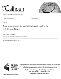 Data Requirements For Availability Based Sparing The U S