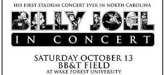 Billy Joel Bb T Field Seating Chart Billy Joel Bb T Field Winston Salem N C Stadium Series
