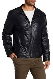 image of andrew marc kingsbury faux leather coat
