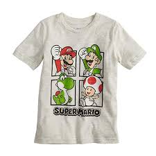 Kohls Jumping Beans Size Chart Jumping Beans Boys 4 10 Nintendo Super Mario Bros Grid Graphic Tee
