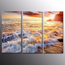 landscape hd canvas prints art dusk beach wall art canvas painting 3pcs no frame on beach framed canvas wall art with landscape hd canvas prints art dusk beach wall art canvas painting