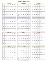 2020 Year At A Glance Calendar Template Homeschool Year At A Glance 2019 2020 Botanical Calendar