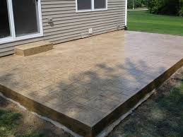 stamped concrete patio and step in south haven