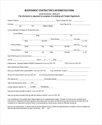 independent contract template sample independent contractor forms 8 free documents in word pdf