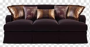 black fabric seat sofa and several