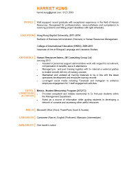 Sample Resume For Graduates human resource management essay resource management class lectures 47