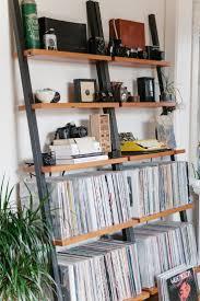 vinyl record storage furniture. Leaning Bookshelves But For Vinyl Record Storage Furniture