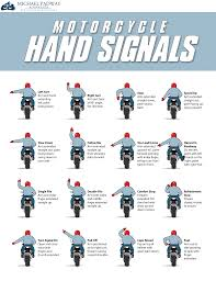 Motorcycle Chain Chart 16 Motorcycle Group Riding Hand Signals Animated Chart