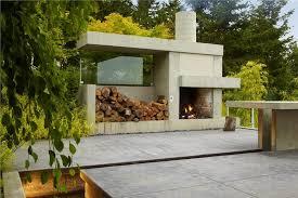 modern diy outdoor fireplace