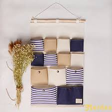 Hanging wall storage Shelves Merdes Foldable Hanging Wall Storage Bag Home Hanging Organizer 13 Pockets Blue Beautybyeveco Top 22 Best Hanging Wall Pockets Top Storage Ideas